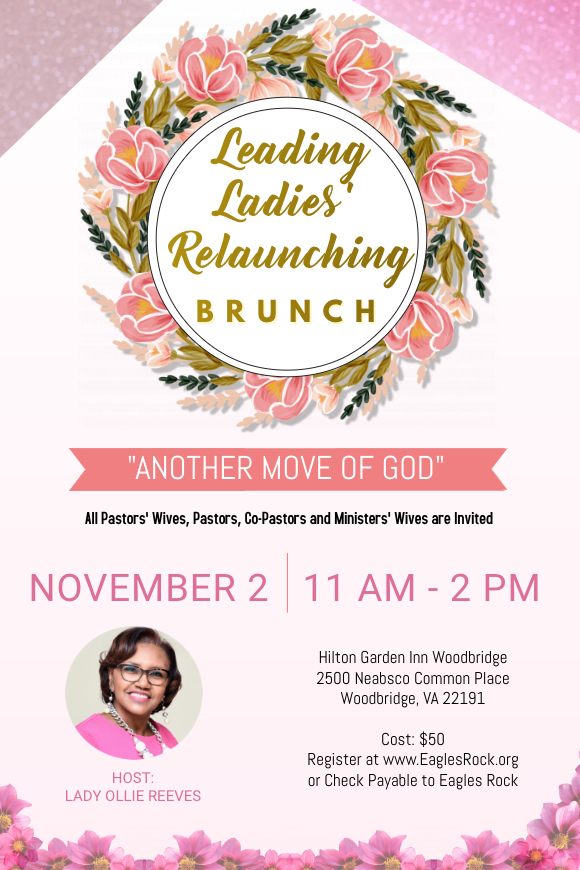 Pastor's Wives Relaunching Brunch - November 2, 2019